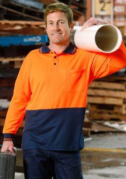 SW05TD orange/navy polo shirt