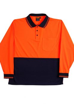 SW05TD orange/navy polo shirt