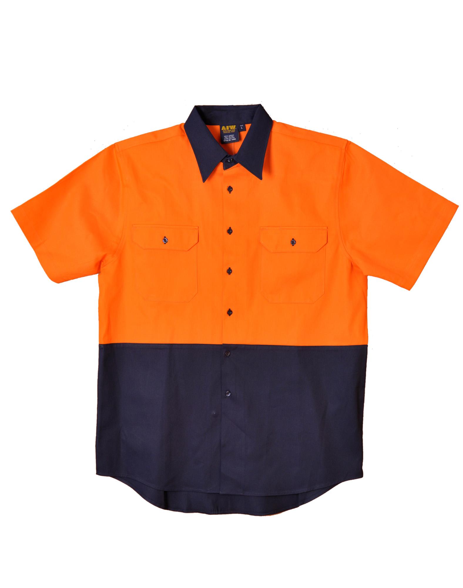 Hi vis light weight vented short sleeve safety shirt sw57 for Hi vis safety shirts