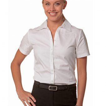 9056b82041a Women s Self Stripe 3 4 Sleeve Shirt M8100Q.  38.50