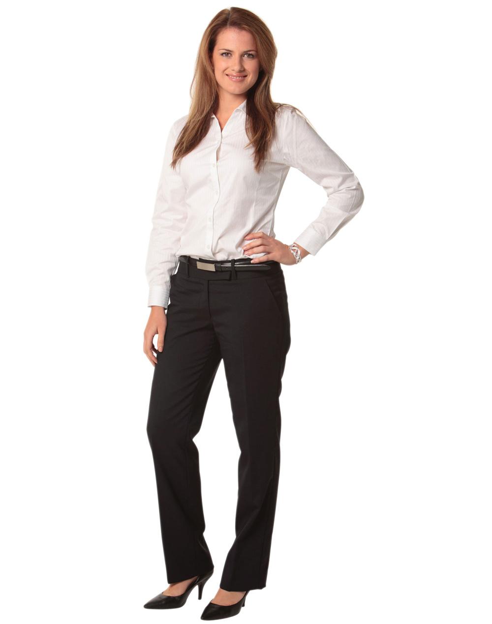 Womenu0026#39;s Wool Blend Stretch Low Rise Pants M9410