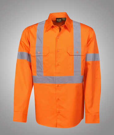 Blue whale hi vis cotton twill shirt d n use for Hi vis t shirt printing