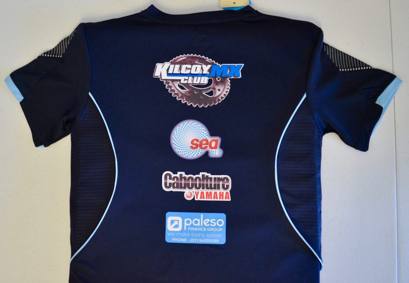 professional club logos printed on sport shirt